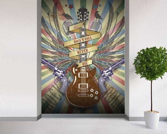 Rock N Roll Wallpaper Wall Mural