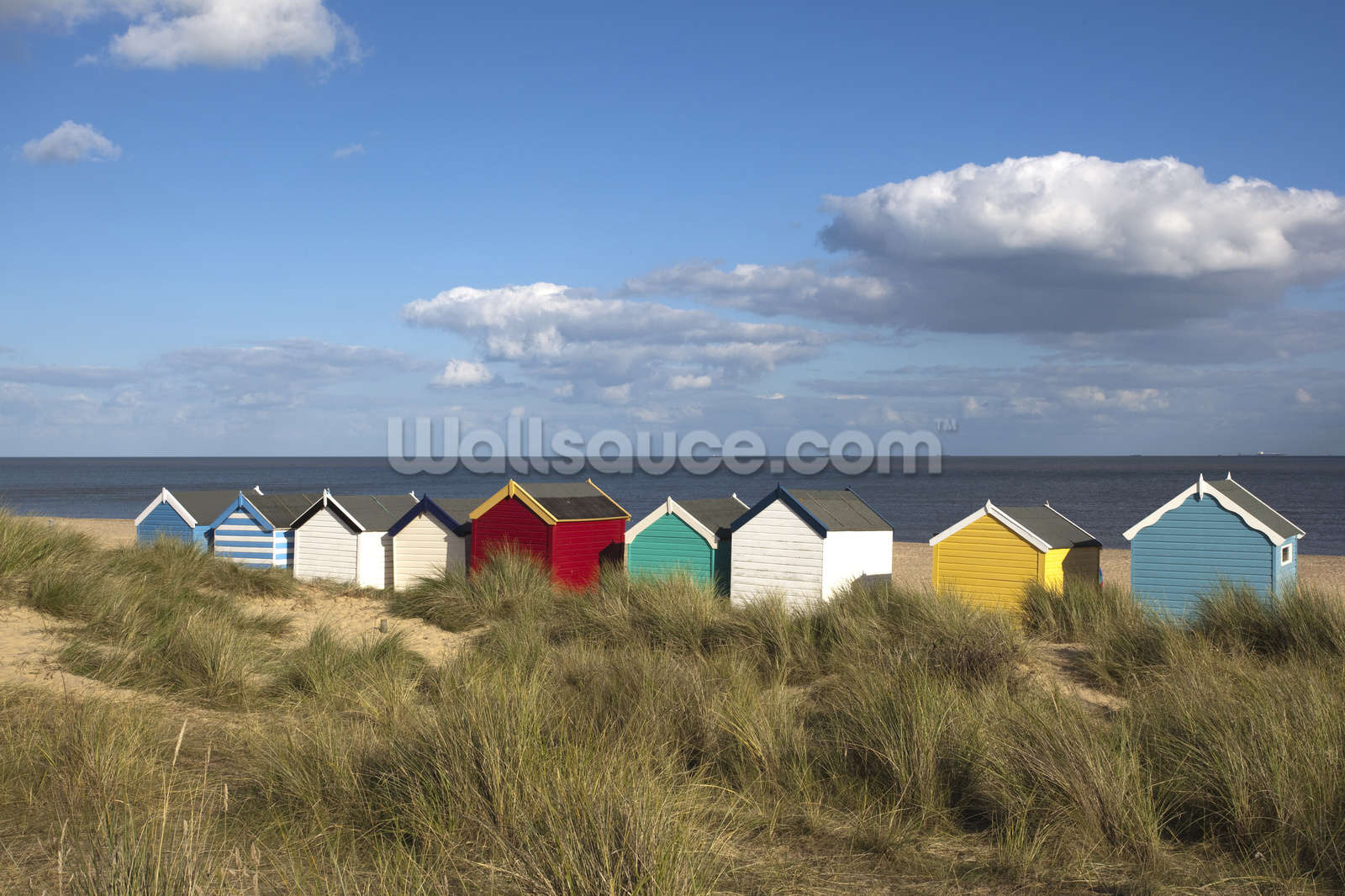 beach huts southwold wallpaper wall mural wallsauce